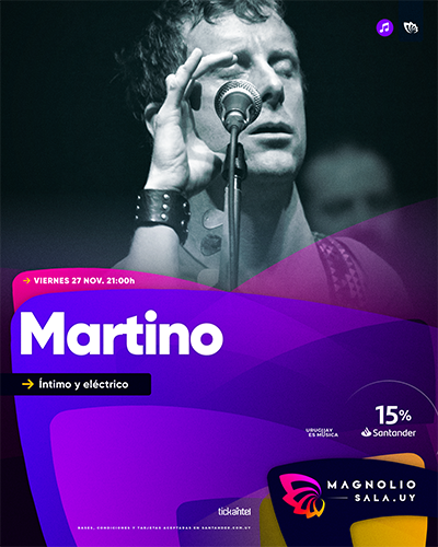 Martino - Íntimo y eléctrico en Magnolio Sala