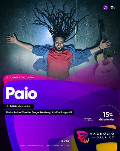 Paio - Artistas invitados: Pikela, Palito Elizalde, Diego Rossberg, Adrián Borgarelli en Magnolio Sala