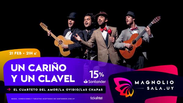 Cuarteto del amor - Con La Ovidio Tìteres Band y De Las Chapas en Magnolio Sala