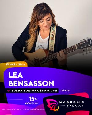 Lea Bensasson DOM 15 MAR - 21:00h en Magnolio Sala