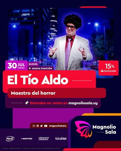 El Tío Aldo - Maestro del horror en Magnolio Sala
