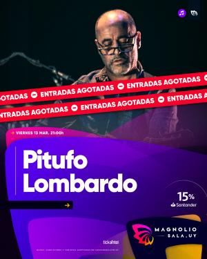 Pitufo Lombardo VIE 13 MAR - 21:00h en Magnolio Sala