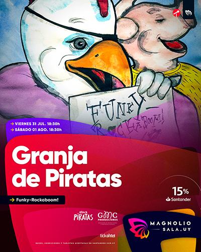 Granja de Piratas - Musical para toda la familia en Magnolio Sala