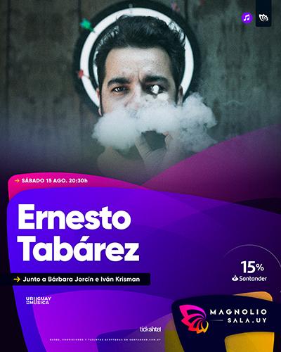 Ernesto Tabárez - Junto a Bárbara Jorcín e Iván Krisman en Magnolio Sala