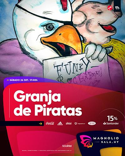 Granja de Piratas - Funky-Rockaboom! en Magnolio Sala